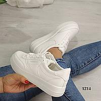 Женские белые кроссовки, копия известного бренда, фото 1
