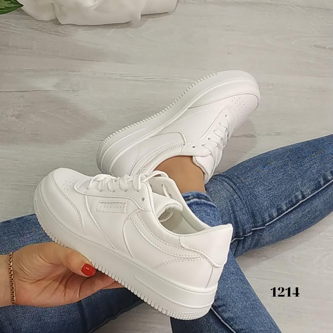 Женские белые кроссовки, копия известного бренда