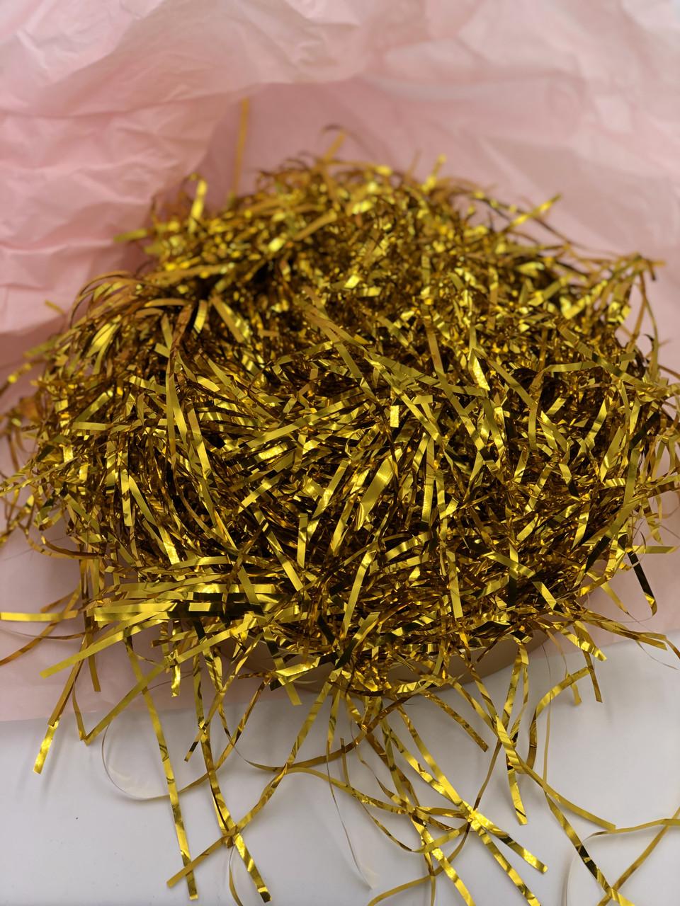 Наполнитель  для коробок  Металлик 25 г золото