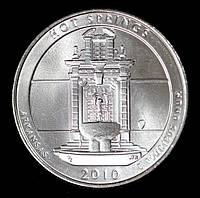 Монета США 1/4  доллара 2010 г. Национальный парк Хот-Спрингс