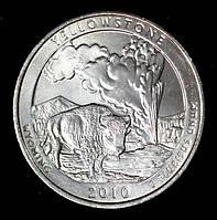 Монета США 1/4  доллара 2010 г. Национальный парк Йеллоустоун