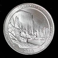 Монета США 1/4  доллара 2010 г. Национальный парк Йосемити