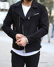 Мужская модная косуха (черная) - Турция (c24)