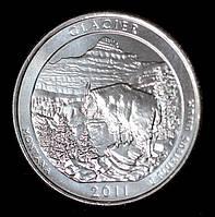 Монета США 1/4  доллара 2011 г. Национальный парк Глейшер, фото 1
