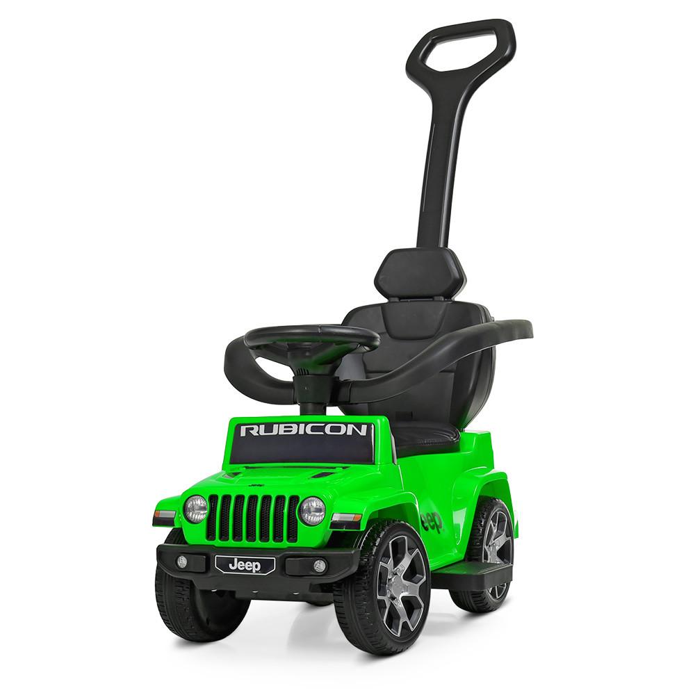 Электромобиль каталка толокар Bambi M 4247EL-5 Jeep с родительской ручкой зеленая