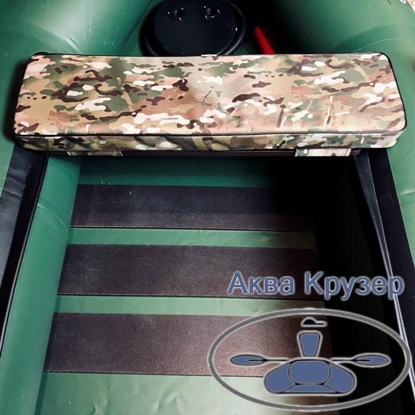 Мягкая накладка 710х200х50 мм на сиденье лодки, цвет камуфляж