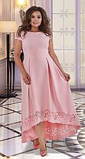 Розкішне вечірнє плаття з перфорацією 50,52,54 р.(4 кольори), фото 3
