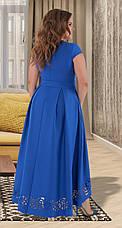 Розкішне вечірнє плаття з перфорацією 50,52,54 р.(4 кольори), фото 2