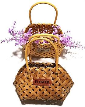 Корзинка-сумочка плетенная овальная