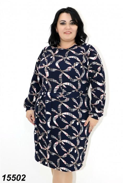Платье женское с поясом трикотаж -буллет  48 50 52 54 56
