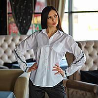 Рубашка с приспущеной линией плеча из 100 % коттона