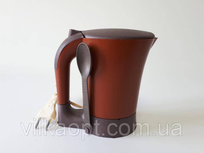Чайник-минутка электрический, пластмассовый 11*9 cm, h 16 cm. (600 мл.)