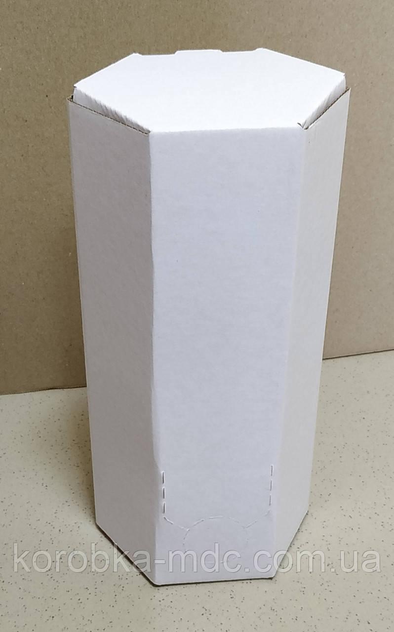 Коробка БЕЛАЯ 2л  мелов шестигранник