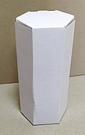Коробка БЕЛАЯ 2л  мелов шестигранник, фото 1
