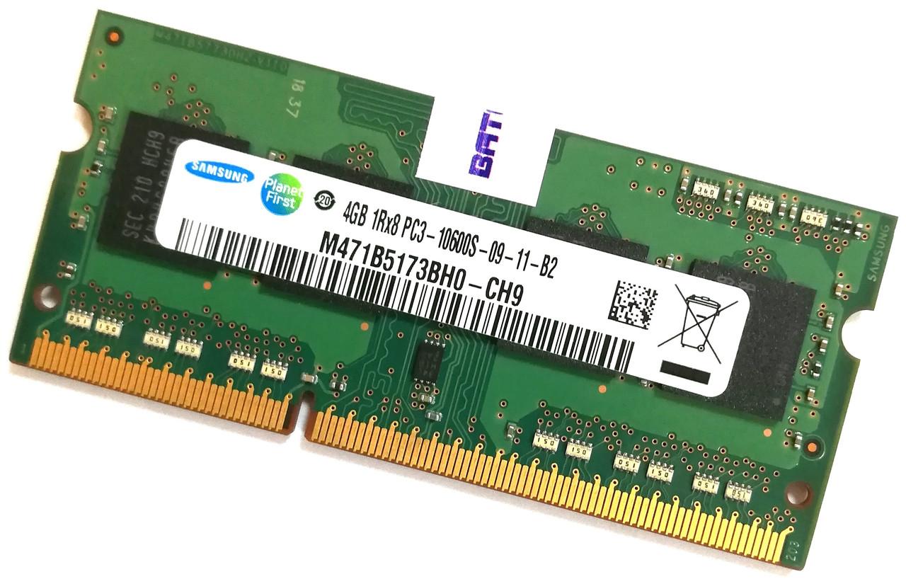 Оперативная память для ноутбука Samsung SODIMM DDR3 4Gb 1333MHz 10600s CL9 (M471B5173BH0-CH9) Б/У