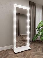Дзеркало на підставці пересувне біле з підсвічуванням 1800*800