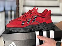 Кроссовки Сетка Хит Мужские Весна Красные в стиле Adidas