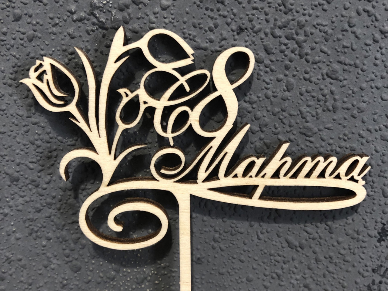 Топпер деревянное слово С 8 марта