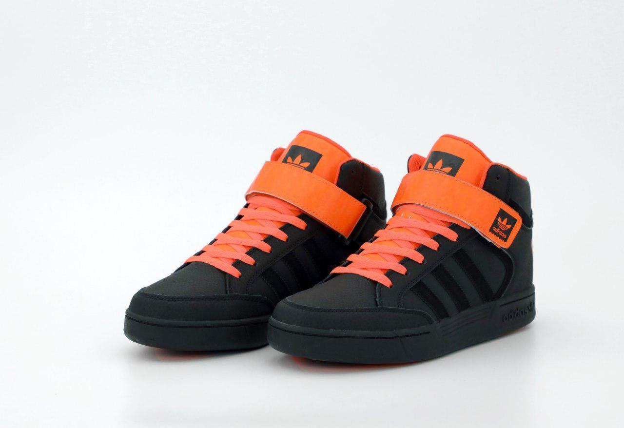 Мужские высокие кеды Adidas Varial Mid 31531 черно-оранжевые