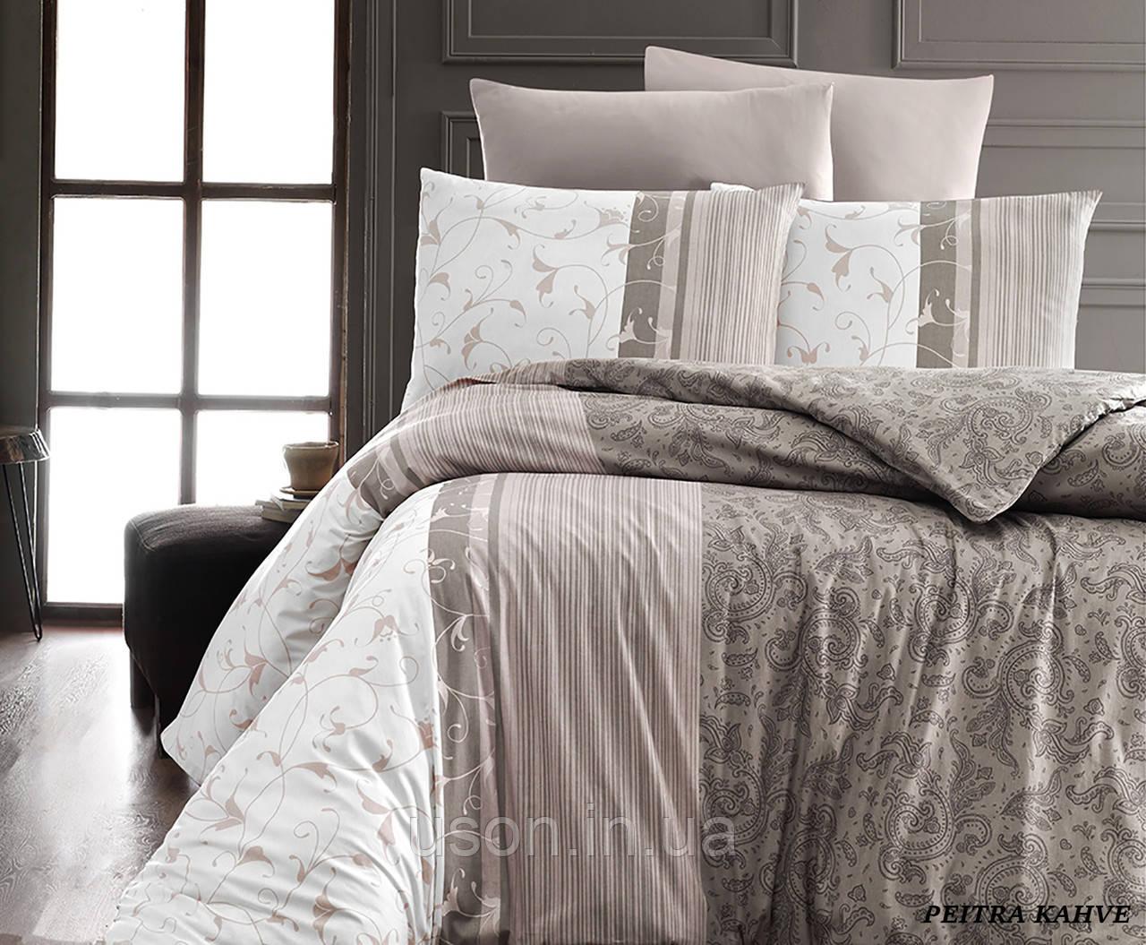 Комплект постельного белья TM First Choice ранфорс Pietra Kahve