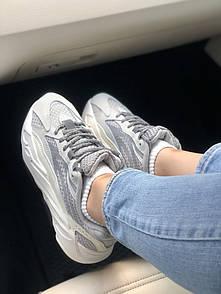 Кроссовки спортивные Adidas Yeezy 700 серые женские осенние летние