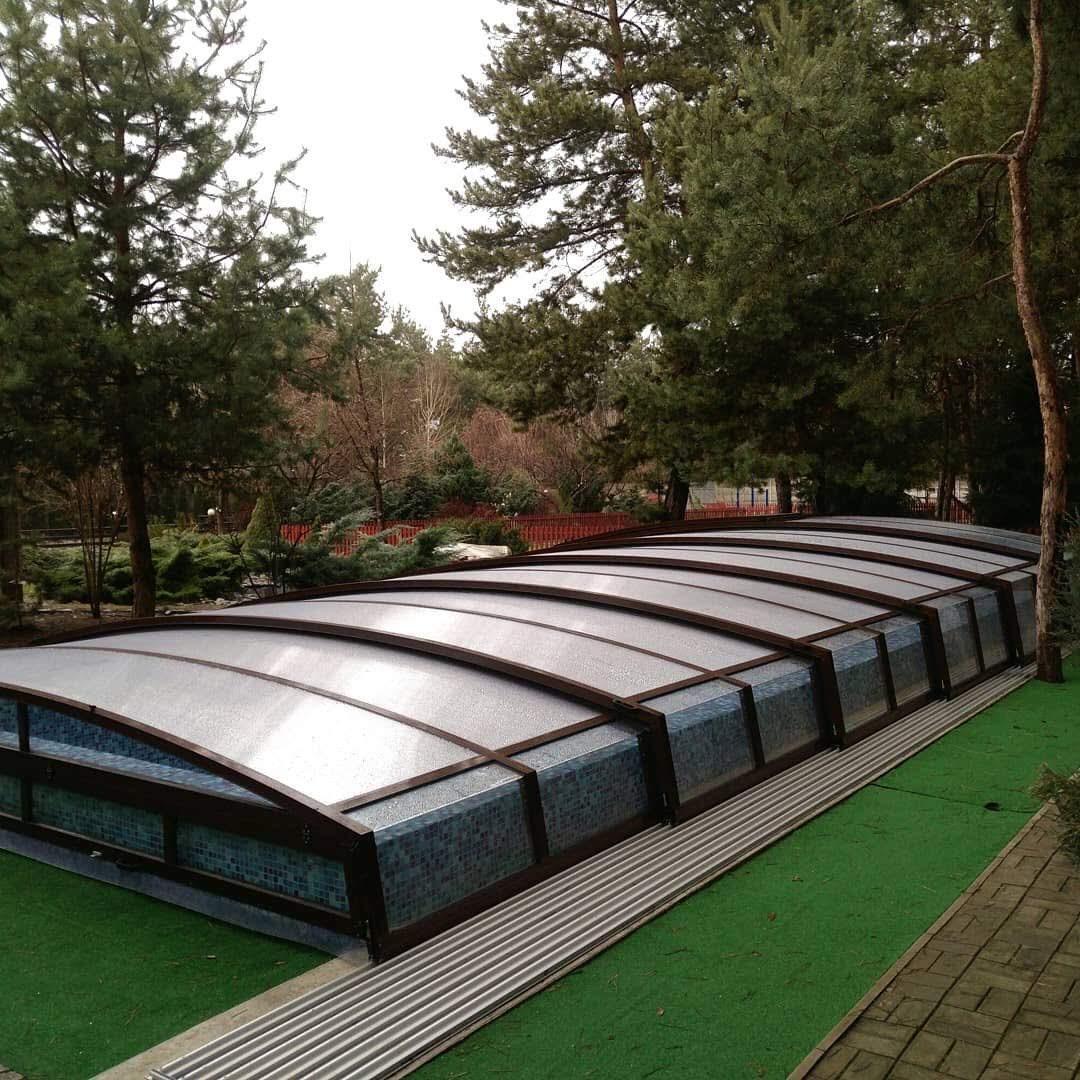 Раздвижной павильон для бассейна Калибр