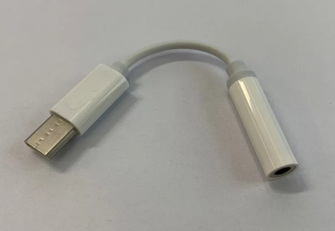 Перехідник з type c  9мм. на навушники 3.5 mm для захищених телефонів