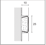 PROLIST - S-дизайн LAD/I нержавеющая сталь хромированная