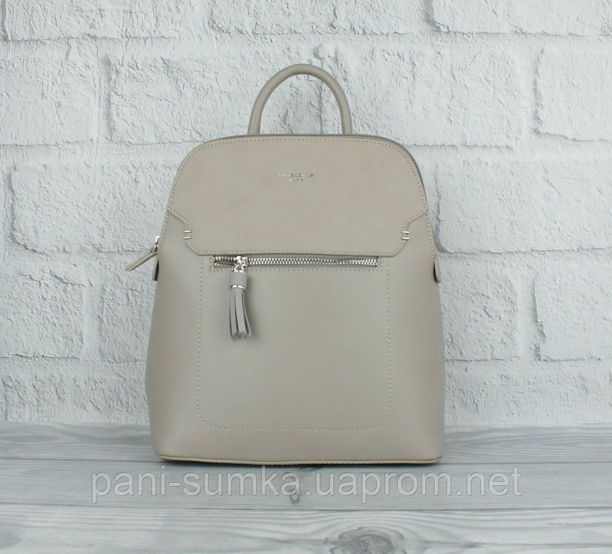 Стильний невеликий рюкзак David Jones 5915-2 сірий (Італія), забарвлення