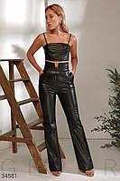 Черные брюки с высокой посадкой XS S M L, фото 1