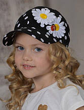 Дитяча кепка для дівчинки Dan & Dani Росія 42390P-18 / 11-52 Чорний