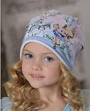Дитяча шапка для дівчинки Dan & Dani Росія 42312F-19-52 Рожевий весняна осіння демісезонна весняна осіння