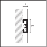 PROLIST - X-дизайн LDAD/D алюминий анодированный