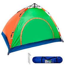 Палатка туристическая 4чел 2*2*1.45м