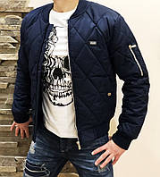 Бомбер мужской  dark blue