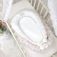 Кокон для новорожденных Маленькая Соня Royal 65*90 см сатин детский кремовый арт.506035