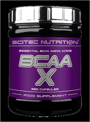 Аминокислоты Scitec Nutrition BCAA-X 330 капс, фото 2