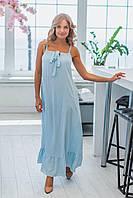 Платье в пол, трапеция, легкое, больших размеров от 42 до 56