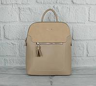 Стильный небольшой рюкзак David Jones 5915-2 бежевый (Италия), расцветки, фото 1