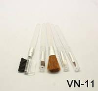 Визажный набор (5 кистей белые и цветные ручки), YRE