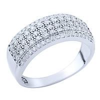 Серебряное кольцо Kolibri с фианитами (1673638) 18.5 размер
