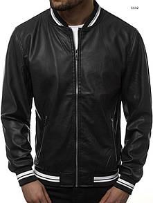 Чоловіча куртка кожанка,Black