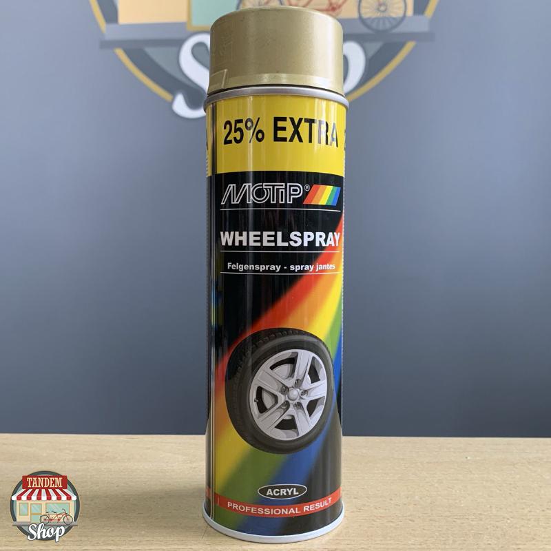 Эмаль для дисков Motip Wheelspray, 500 мл Аэрозоль Золотистый