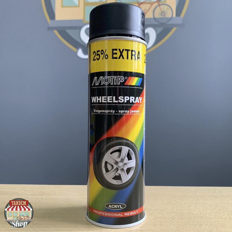 Эмаль для дисков Motip Wheelspray, 500 мл Аэрозоль Черный мат
