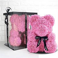 Мишка из роз в подарочной коробке 40 см, фото 1