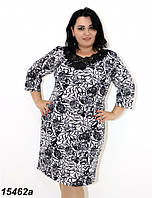 Платье женское большого размера,с кружевом 58,60,62,64