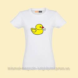 """Жіноча футболка з принтом """"Качка лається"""""""