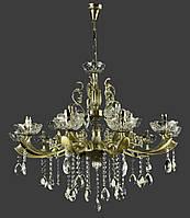 Классическая люстра-свеча на 15 лампочек Планета Света античная бронза IS-4134/10+5/AB