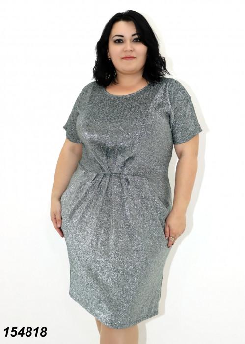 Платье женское короткий рукав, люрекс 48 50 52 54  56