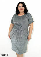 Платье женское короткий рукав, люрекс 48 50 52 54  56, фото 1